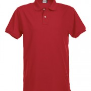 Polo-stretch-homme-rouge